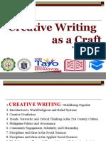 Creative Writing intro