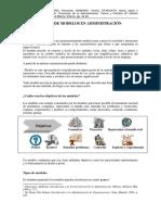 3. El uso de modelos en Administración