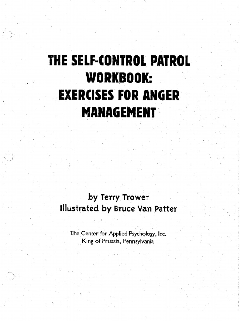 Workbooks anger workbook : Self-Control Patrol Workbook
