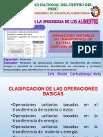 4 CLASE CLASIFICACION DE OPERACIONES UNITARIAS - S2
