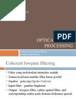 Optical Image Processing