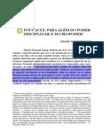 Artigo 06 - Foucault, para além do poder disciplinar e do biopoder - Thamy Pogrebinschi