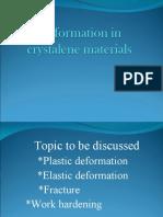 Deformation in crystalene materials