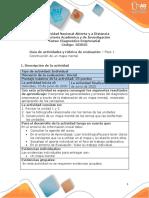 Guia de actividades y Rúbrica de evaluación - Fase 1 - Construir un mapa mental