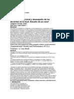CLIMA ORGANIZACIONAL Y DESEMPÑEO DE DOCENTE