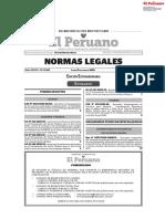Normas legales edición extraordinaria 15 junio 2020
