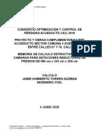 MEMORIA DE CALCULO CAMARAS REGULADORAS DE PRESION JUNIO 6 2020 TIPO 3