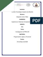 INVESTIGACION DE PROLOG
