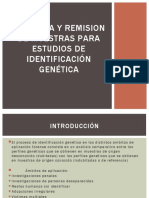 RECOGIDA Y REMISION DE MUESTRAS PARA ESTUDIOS DE