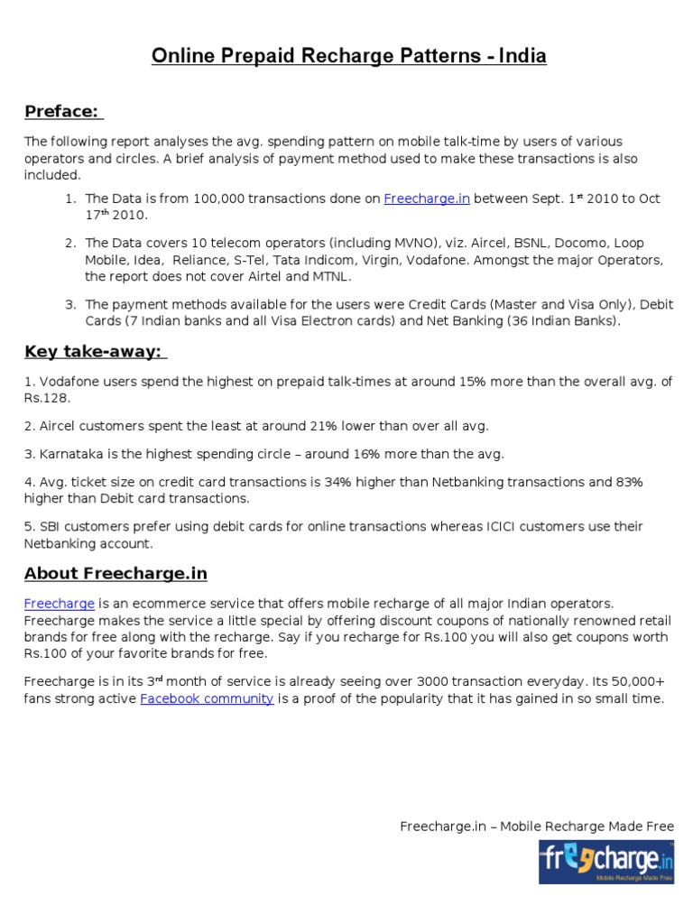 41700734 Online Prepaid Mobile Recharge Patterns | Debit