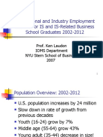 Occupational and Industry Employment Outlook 2007