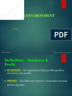 Topic 1 BUSINESS ENVIRONMENT