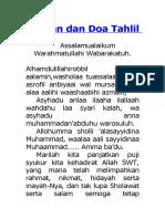 Bacaan dan Doa Tahlil.doc