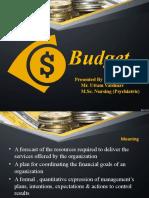 Budget By Uttam Vaishnav