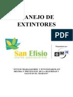 manual de MANEJO DE EXTINTORES