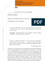 From Creative to Cultural Industries