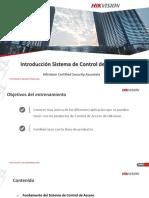 Introducción Sistema de Control de Acceso