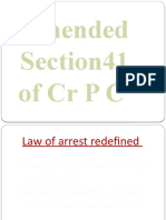 New Amended 41 CrPC