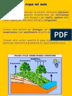 Diapositive Pedologia - H2O in Suolo