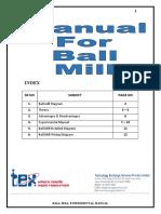 Ball Mill Manual F