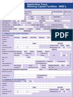 HDFC Application Form Working Capital