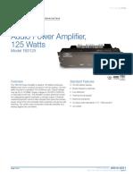 85010-0011 -- 125 Watt Audio Power Amplifier