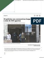 19 policías con coronavirus luego de revisión a más de 300 agentes Arequipa _ Correo