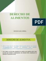 DERECHO ALIMENTOS