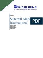 Sistemul Monetar Internațional (MA)