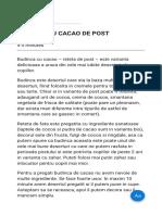BUDINCA CU CACAO DE POST