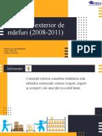 Comertul exterior 2008-2011