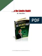 No Limits Habit Book