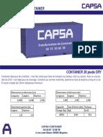 Container CAPSA 20 Pieds DRY