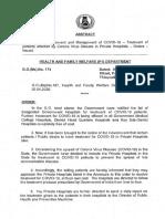 COVID19 - TN Govt approval - Pvt hospital