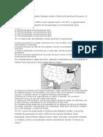 8º SIMULADO - Geografia- Estados Unido- Potência Econômico-Percurso 14