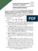 ESPECIFICACIONES TECNICAS - LA COMPUERTA