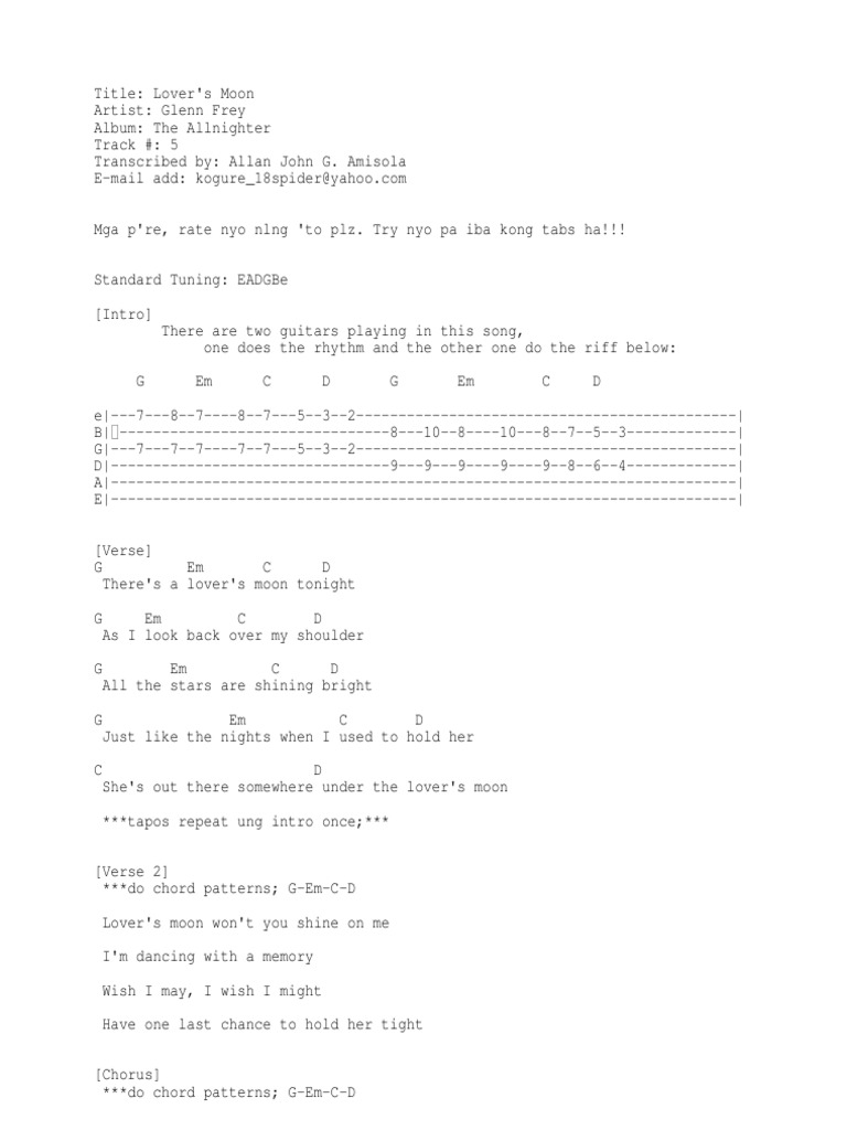 Red Jumpsuit Apparatus Guardian Angel Chords | Lixnet AG