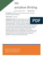 ubd argument writing