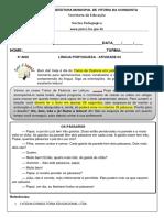 4º Ano - Língua Portuguesa - Semans 07 - Atividade 04