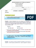 4ºANO MATEMÁTICA - ATIVIDADE 3 - 7ªSEMANA