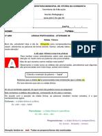 4º Ano - Língua Portuguesa - Semana 07 - Atividade 03 (1)