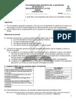 PARCIAL EDUCACIÓN RELIGIOSA 8° y IV CLEI 2020