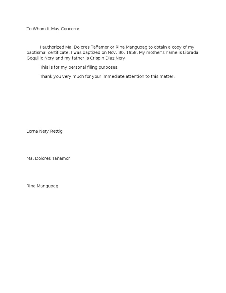 Beautiful Example Of Authorization Letter Gallery - Best Resume