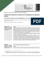 Garcia et al 2013 Cálculo del tamaño de la muestra en investigación en educación médica