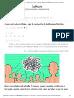 A guerra entre o lugar de fala e o lugar de escuta, artigo de José Eustáquio Diniz Alves - EcoDebate