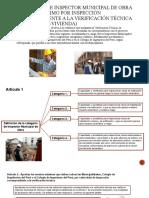 Categorías de Inspector Municipal de Obra y Monto