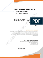 IFH-MA-SI-01  MANUAL SISTEMA INTEGRADO DE GESTION