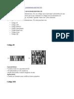Tipos de Codigos de Identificación 1D 2D