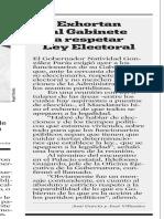 16.03.2006 Exhortan al Gabinete a respetar Ley Electoral