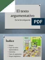 texto argumentativo power point